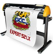 "GCC Expert 52"" LX vinyl cutter with auto contour cutting"