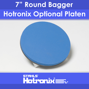 "Optional Platen for Hotronix Fusion 7"" Round Bagger"