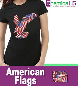 "Chemica Fashion Pattern American Flag, HTV 15"" by the Yard"