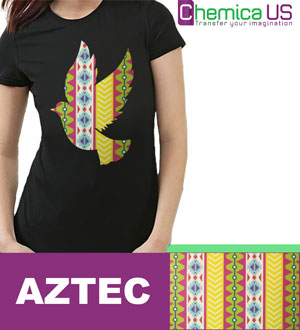"Chemica Aztec Pattern HTV 15"" by the Yard"