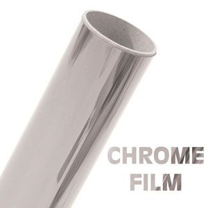 Chrome Metalized Vinyl 24 in by 1 Sheet (12 in)