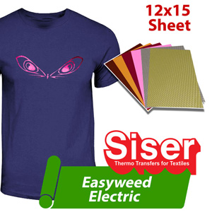 "Siser EasyWeed Electric heat transfer film 12""x15"""