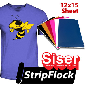 "Siser Flock heat transfer film 12""x15"""