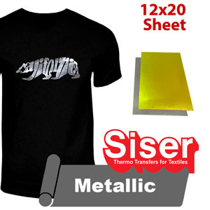 "Siser EasyWeed Metallic heat transfer film 12"" x 20"""
