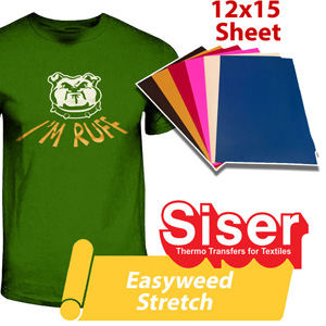 "Siser Easyweed Stretch heat transfer film 12""x15"""