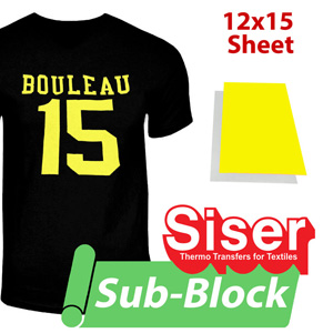 "Siser Easyweed Sub Block heat transfer film 12""x15"""