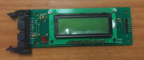 LCD Display controller board for master cutter