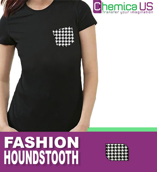 "Chemica Fashion Houndstooth Heat Transfer Vinyl, 15"" by the Yard"