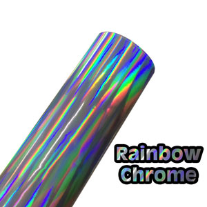 Rainbow Chrome Metalized Vinyl 24 in by 1 Sheet (12 in)